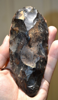 A large and very nicely worked Neolithic knapped flint axe, Suffolk, Old Collection piece, SOLD